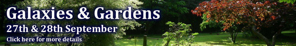 Galaxies & Gardens, 27 & 28 September, Click for more details